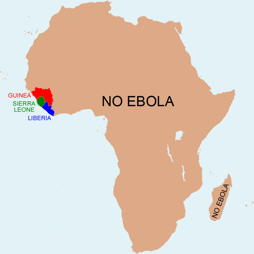 Map: The Africa without Ebola